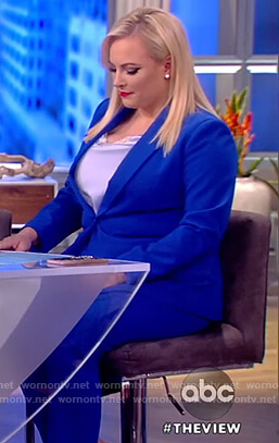 Meghan's blue blazer and pants on The View