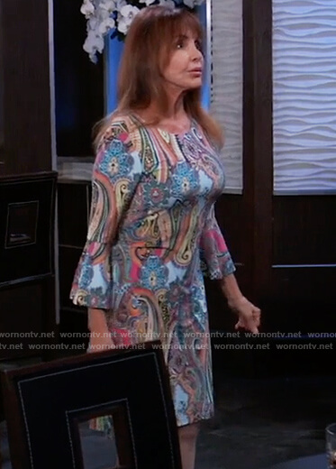Bobbie's paisley print dress on General Hospital