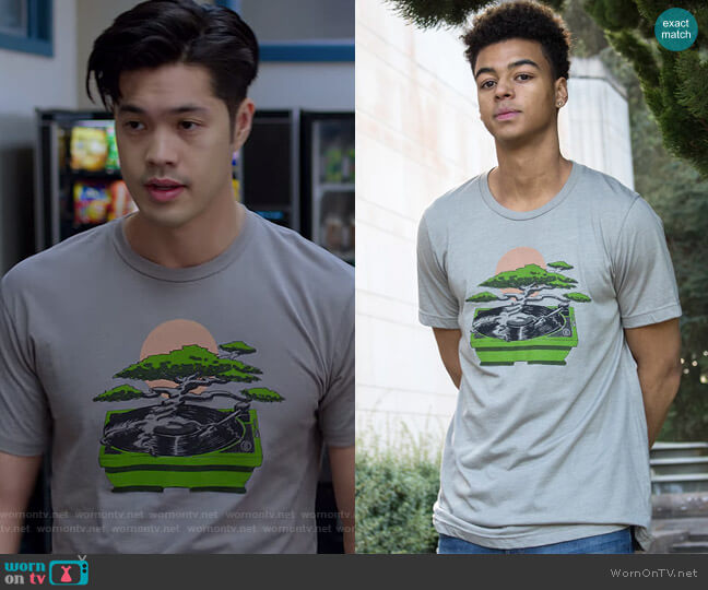 Bonzai Tee by Choke worn by Zach Dempsey (Ross Butler) on 13 Reasons Why