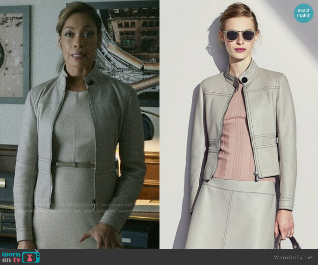 Bottega Veneta Leather Jacket worn by Jessica Pearson (Gina Torres) on Pearson