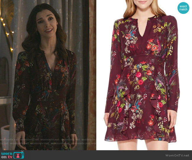 Brook Dress by Parker worn by Alicia Mendoza (Denyse Tontz) on Grand Hotel