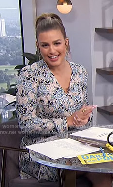 Carissa's floral button front dress on E! News Daily Pop