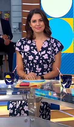 Cecilia's floral flutter sleeve dress on Good Morning America
