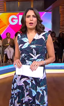 Cecilia's floral wrap dress on Good Morning America