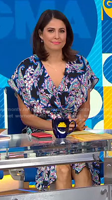 Cecilia's paisley print dress on Good Morning America