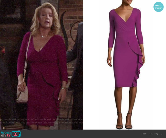 Chiara Boni La Petite Robe Marem Dress worn by Nikki Reed Newman (Melody Thomas-Scott) on The Young & the Restless