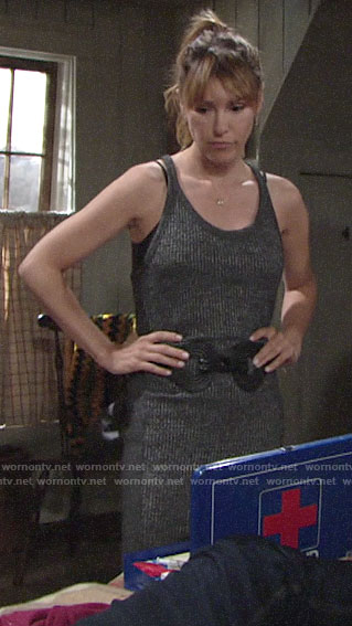 Chloe's ribbed tank dress on The Young and the Restless