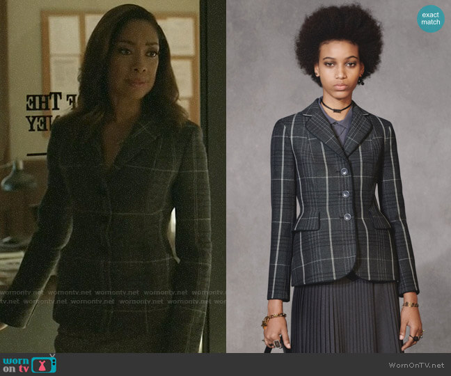 Christian Dior Pre-fall 2018 Plaid Jacket worn by Jessica Pearson (Gina Torres) on Pearson
