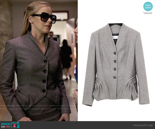 Christian Dior Wool Suit Jacket worn by Katrina Bennett (Amanda Schull) on Suits