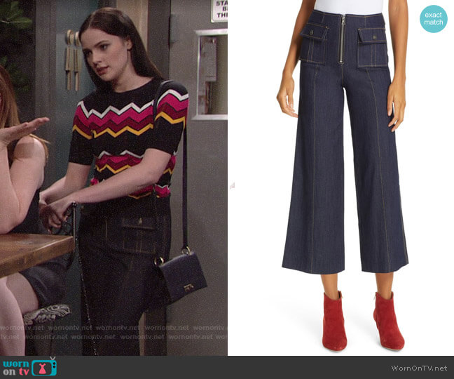 Cinq a Cept Azure Pants worn by Tessa Porter (Cait Fairbanks) on The Young & the Restless
