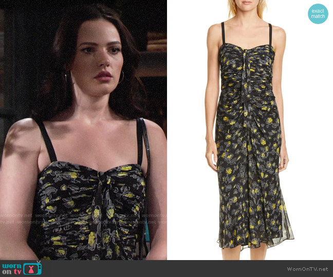 Cinq a Sept Margot Dress worn by Tessa Porter (Cait Fairbanks) on The Young & the Restless