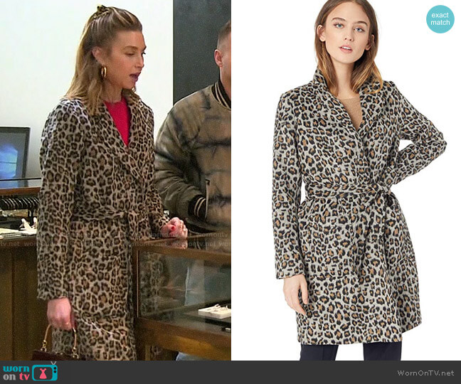 Cupcakes and Cashmere Fabrice Leopard Coat worn by Whitney Port  on The Hills New Beginnings