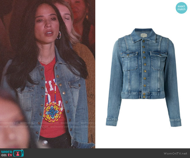 Current/Elliott The Snap Denim Jacket worn by Monica Dutton (Kelsey Asbille) on Yellowstone