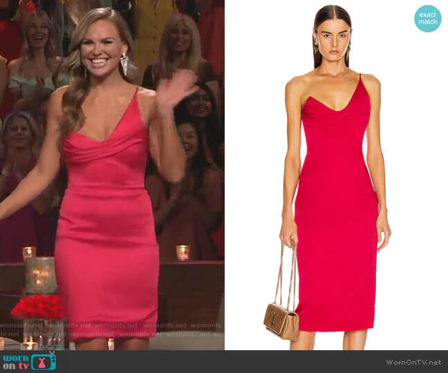 Sleeveless Pencil Dress by Cushnie worn by Hannah Brown  on The Bachelorette