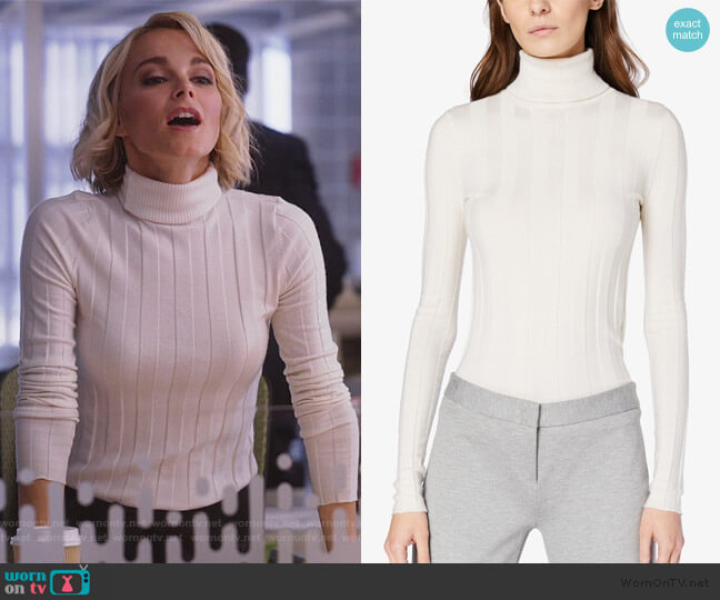 Inez Long Sleeve Sweater by Derek Lam worn by Lizzie Needham (Bojana Novakovic) on Instinct