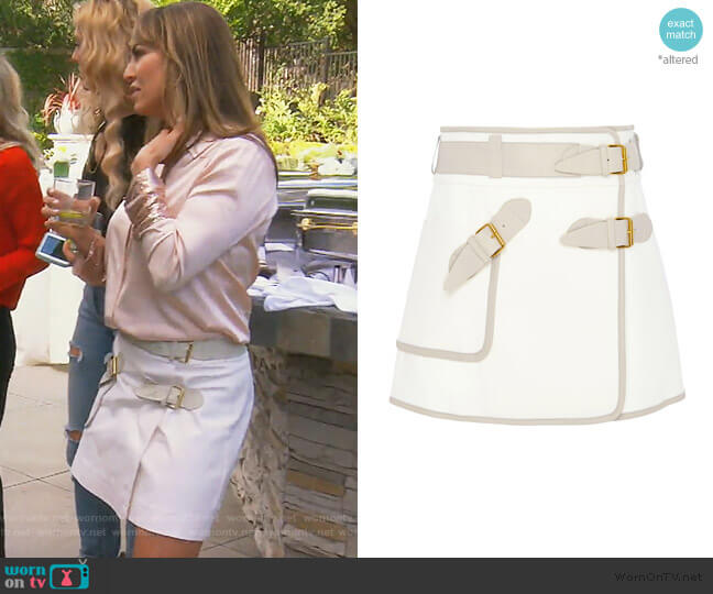 Utility Wrap Skirt by Derek Lam 10 Crosby worn by Kelly Dodd  on The Real Housewives of Orange County