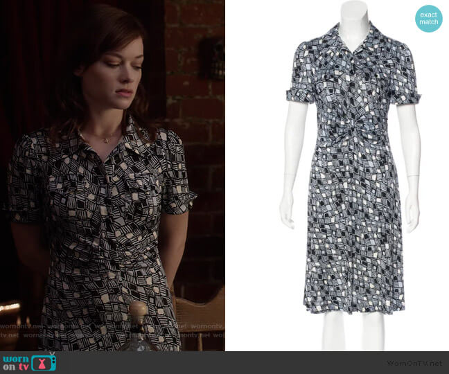 Polly Anna Silk Dress by Diane von Furstenberg worn by Lisa Donovan (Jane Levy) on What/If