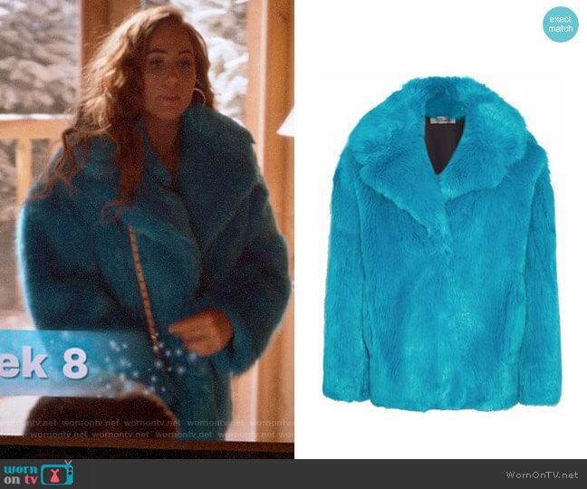 Diane von Furstenberg Faux Fur Coat worn by Zara (Sophia La Porta) on Four Weddings & a Funeral