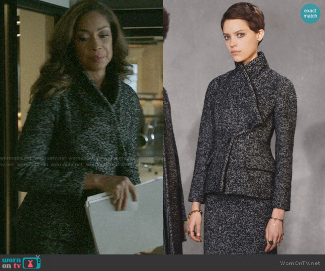 Dior Pre-Fall 2018 Collection Tweed Jacket and Skirt worn by Jessica Pearson (Gina Torres) on Pearson