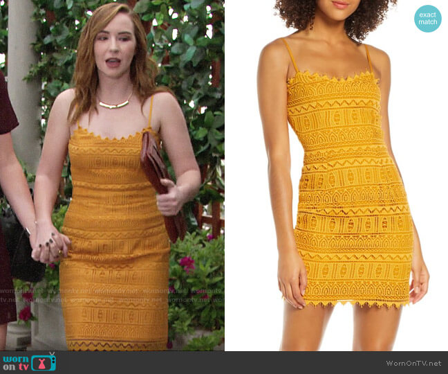 Dress the Population Gwen Dress worn by Mariah Copeland (Camryn Grimes) on The Young & the Restless