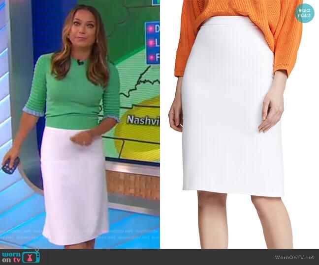 Darcey Skirt by Diane von Furstenberg worn by Ginger Zee  on Good Morning America