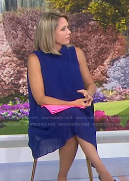 Dylan's blue chiffon dress on Today