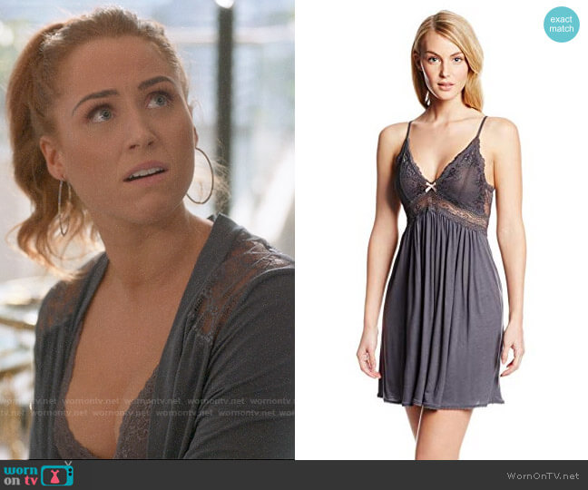 Eberjey Collette Chemise worn by Zara (Sophia La Porta) on Four Weddings & a Funeral