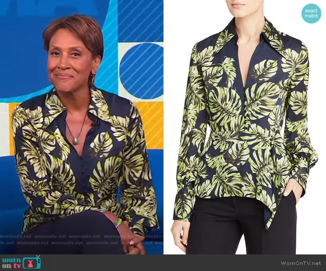 Haylee Blouse by Elie Tahari worn by Robin Roberts  on Good Morning America