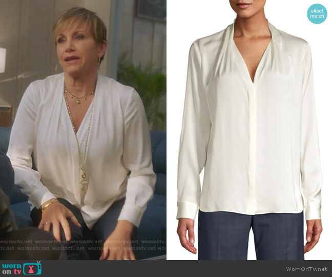 Rosalina Blouse by Elie Tahari worn by Gabrielle Carteris  on BH90210
