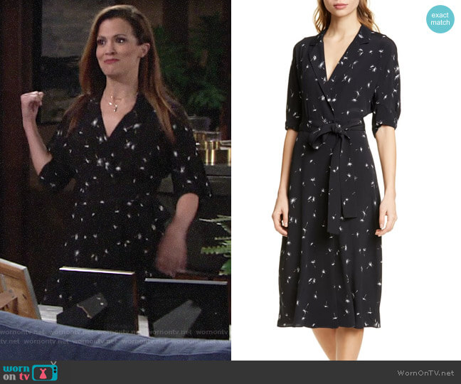 Equipment Anitone Wrap Dress worn by Chelsea Lawson (Melissa Claire Egan) on The Young & the Restless
