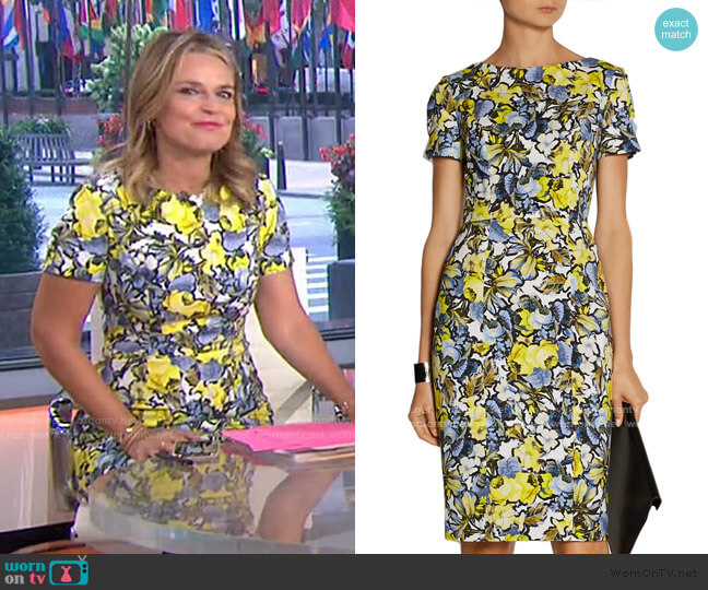 Joyce Dress by Erdem worn by Savannah Guthrie  on Today