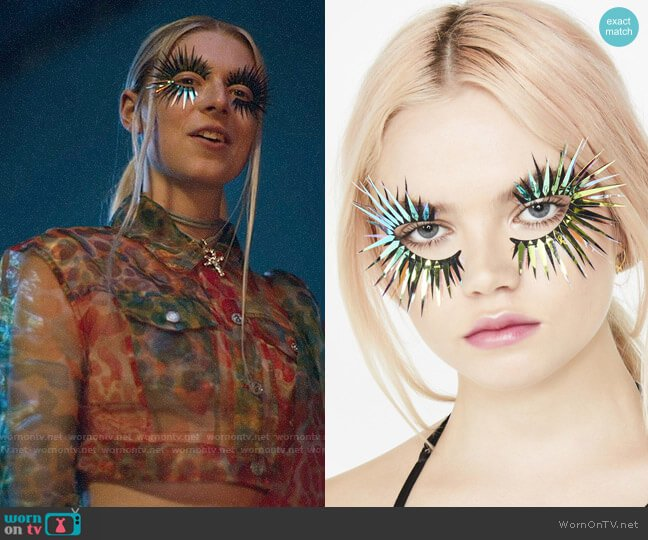 Face Lace Spikelihood 3D Face Lace worn by Jules Vaughn (Hunter Schafer) on Euphoria