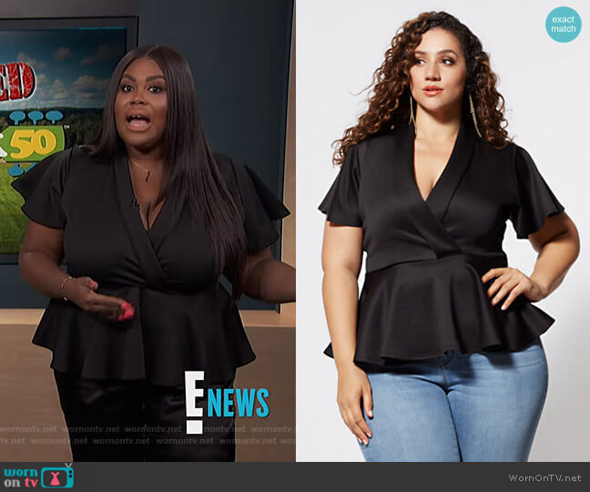 Sienna Peplum Top by Fashion to Figure worn by Nina Parker  on E! News