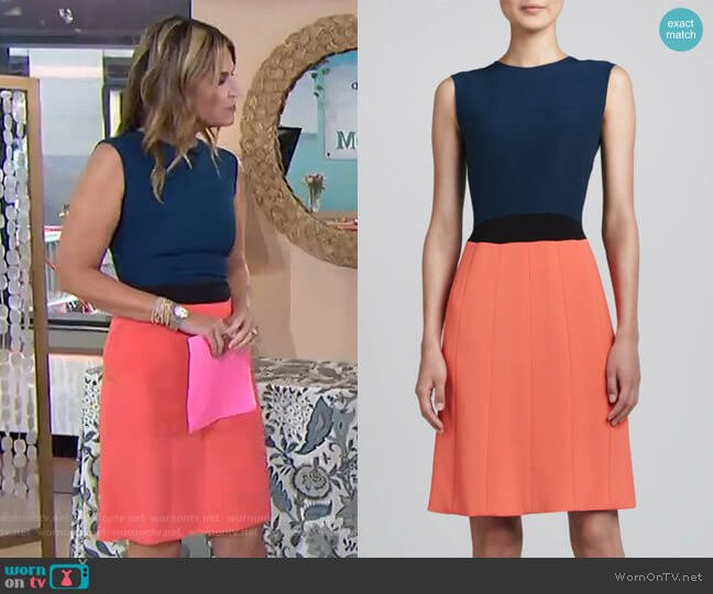 Colorblock Dress by Fendi worn by Savannah Guthrie  on Today