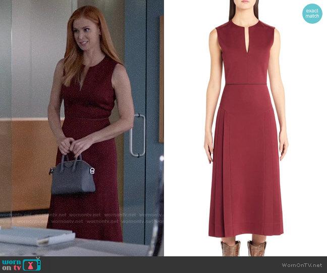 Fendi Pleated A-Line Midi Dress worn by Donna Paulsen (Sarah Rafferty) on Suits