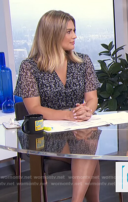 Carissa's floral v-neck mini dress on E! News Daily Pop