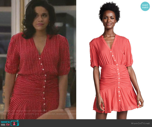 Pippa Short Sleeve Mini Dress by Free People worn by Yoli (Justina Adorno) on Grand Hotel