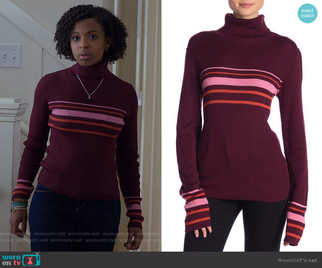 Turtleneck Sweater by Free People worn by Ani (Grace Saif) on 13 Reasons Why