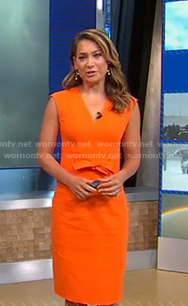 Ginger's orange tie waist dress on Good Morning America