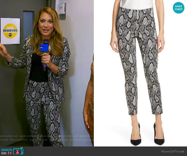 Gloriane Pants by Alice + Olivia worn by Ginger Zee  on Good Morning America