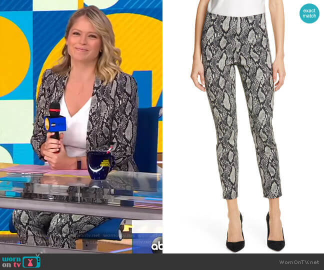 Gloriane Pants by Alice + Olivia  worn by Sara Haines  on Good Morning America