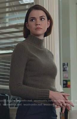 Callie's green turtleneck sweater on Good Trouble