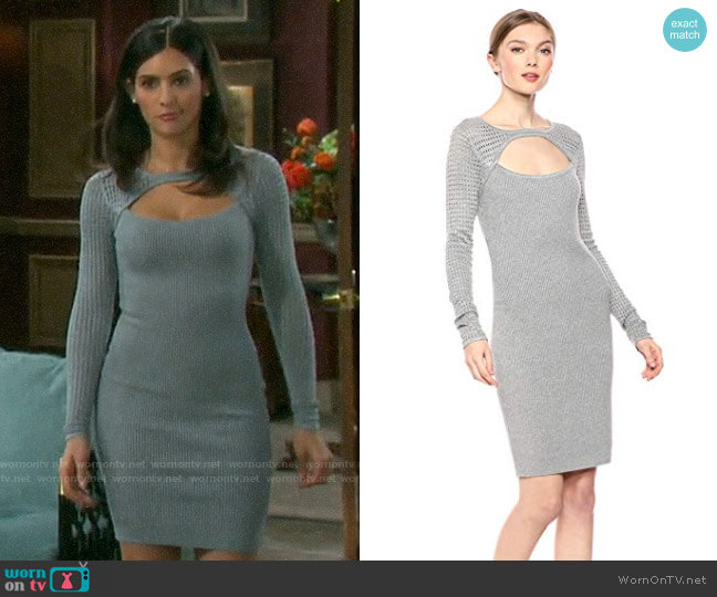 Guess Allison Amory Sweater Dress worn by Gabi Hernandez (Camila Banus) on Days of our Lives