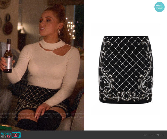 Guess Elea Skirt worn by Zara (Sophia La Porta) on Four Weddings & a Funeral