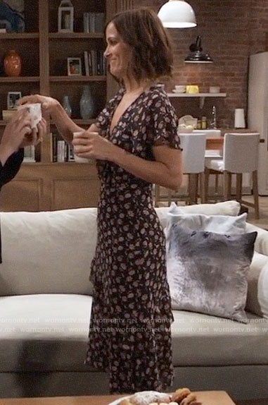 Hayden's floral midi dress on General Hospital