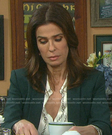 Hope's chain print blouse on Days of our Lives