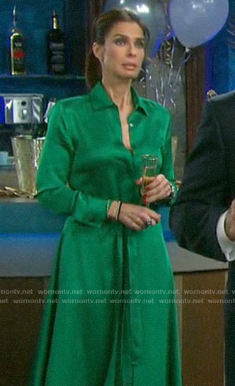 Hope's green shirtdress on Days of our Lives