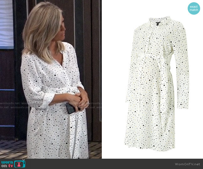 Isabella Oliver Freya Maternity Shirtdress worn by Carly Corinthos (Laura Wright) on General Hospital