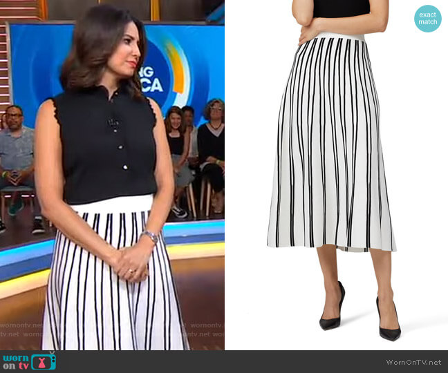 Flare Sweater Skirt by J.Crew worn by Cecilia Vega  on Good Morning America