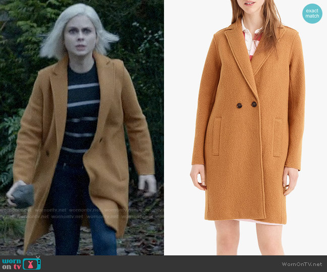 J. Crew Daphne Coat in Warm Caramel worn by Liv Moore (Rose McIver) on iZombie